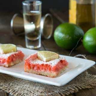 strawberry margarita bars on a plate