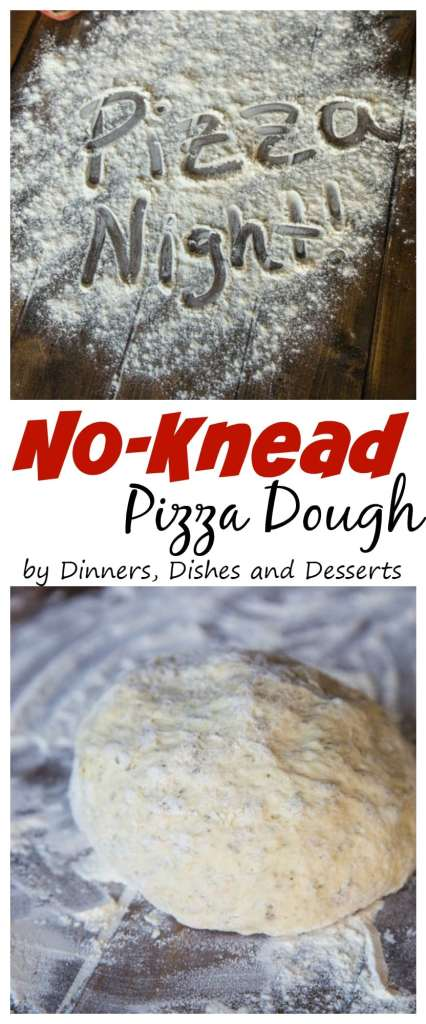 No Knead Pizza Dough - Make homemade pizza at home with this super easy homemade pizza dough!