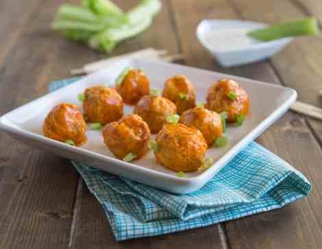 Buffalo Chicken Meatballs Done 1