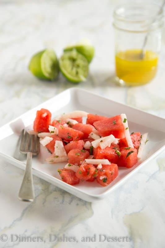 Jicima and Watermelon Salad