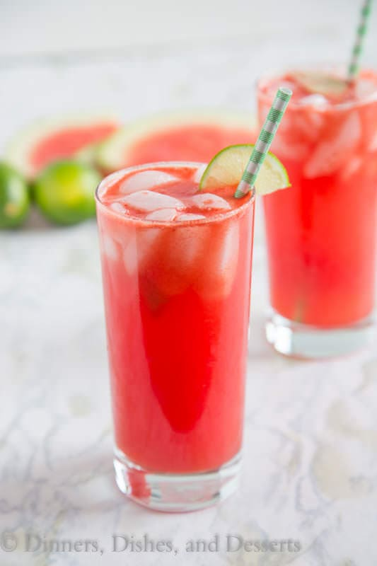 Watermelon Soda - Turn juicy watermelon into a refreshing watermelon soda with a twist of lime! Great to beat the heat this summer!