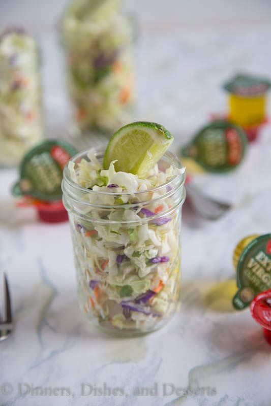 Mexican Coleslaw - A quick and easy side dish for just about any meal. Also great on burgers or tacos!