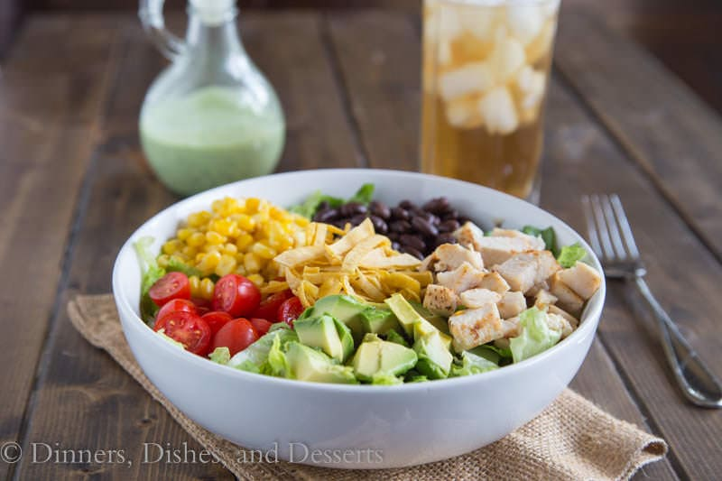 Southwestern Cobb Salad {Dinners, Dishes, and Desserts}