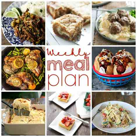 Weekly Meal Plan Week 3 - quick, easy and delicious recipes for your week.