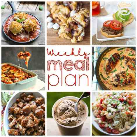 Weekly Meal Plan Week 4 - 8 top bloggers bringing you 6 dinner recipes and 2 desserts for a quick, easy, and delicious week!