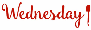 drawing of the word Wednesday
