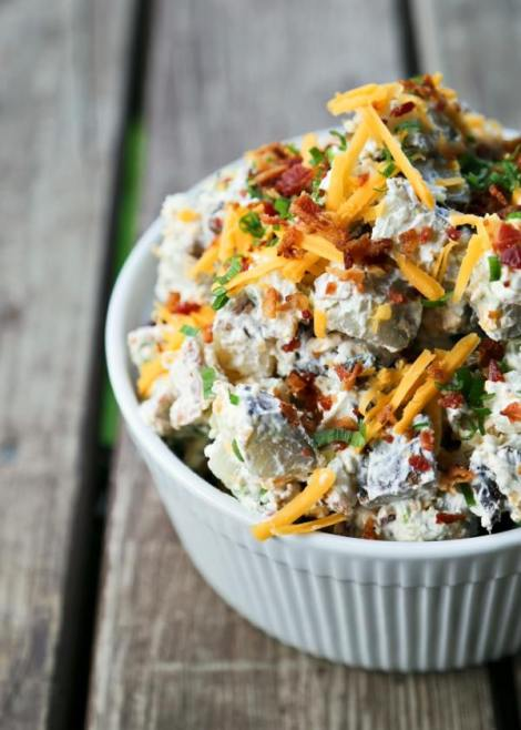 Loaded Baked Potato Salad {Foodie with Family}