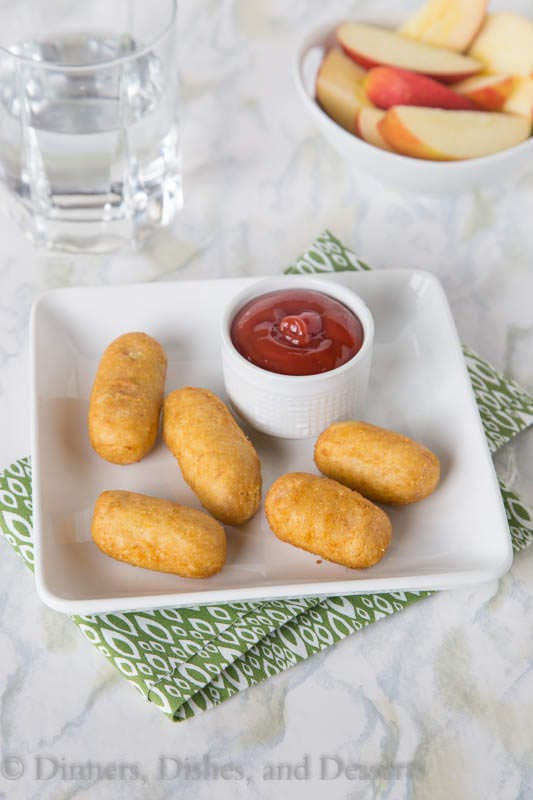State Fair Corn Dogs make for an easy after school snack!