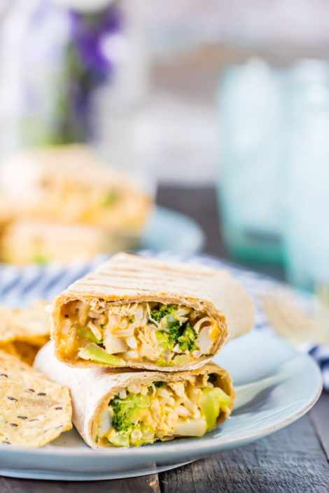 Ranch Brocolli Chicken Burittos {The Cookie Rookie}