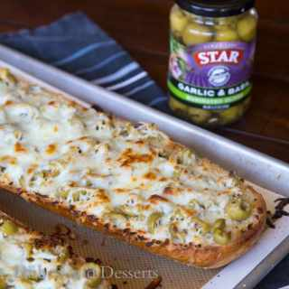 Garlic Olive Cheese Bread {Dinners, Dishes, and Desserts}