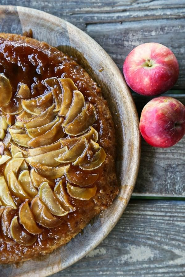 Maple Apple Skillet Upside Down Cake {Foodie with Family}