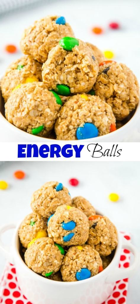 A close up of easy snack balls