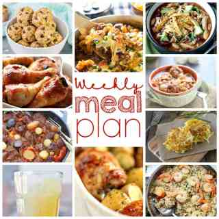 Weekly Meal Plan Week 13 - 10 great bloggers bringing you a full week of recipes including dinner, sides dishes, drinks and desserts!