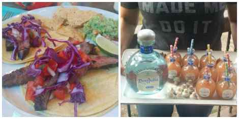 Certified Angus Beef tacos and mini margaritas
