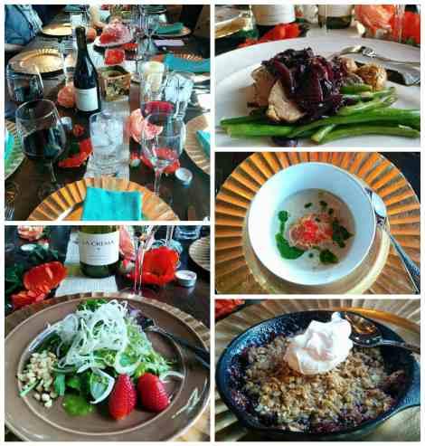 Chef Ian Truxton prepared an amazing meal!