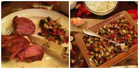 Certified Angus Beef steak dinner with Brussels Sprouts