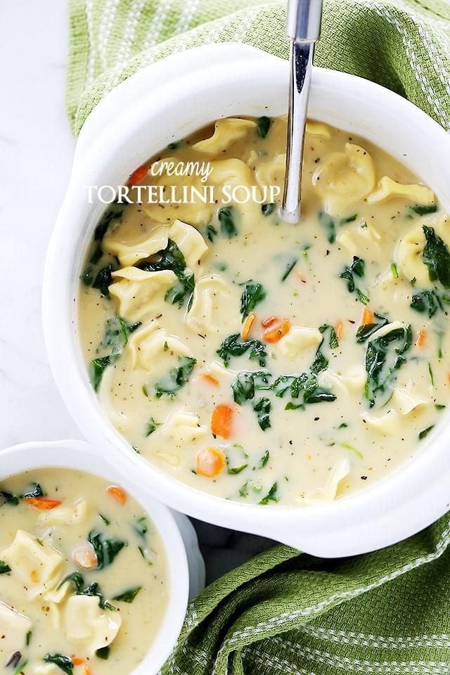 Creamy Tortellini Soup {Diethood}