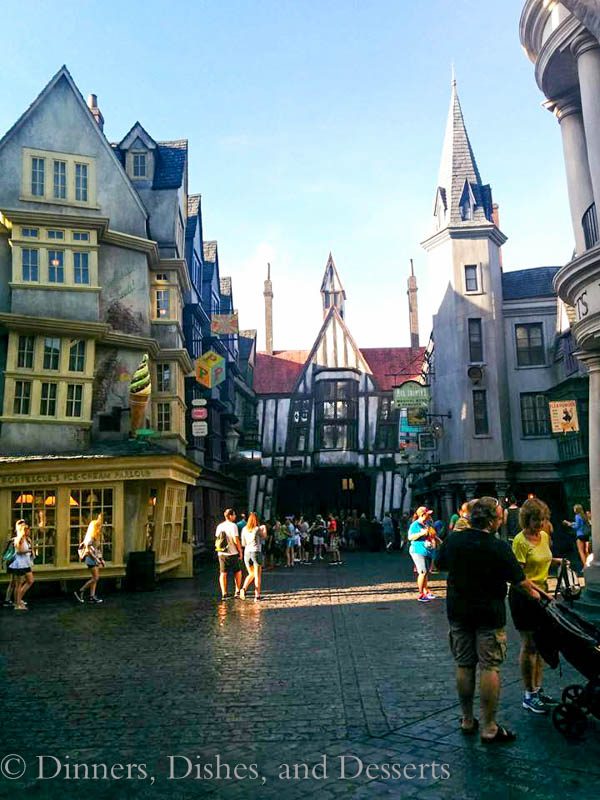 Universal Studios Orlando - Outside Escape from Gringots in Diagon Alley