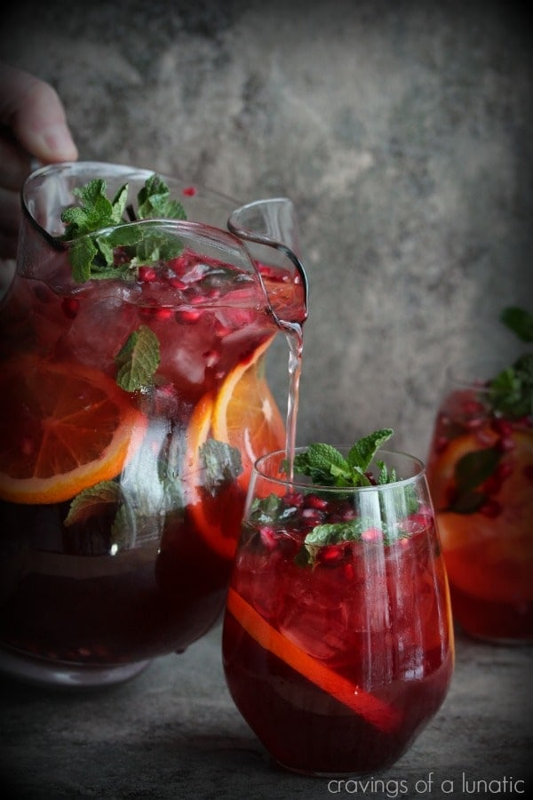 Pomegranate Party Punch {Cravings of a Lunatic}