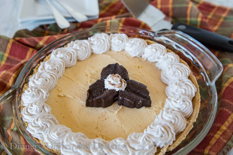 Pumpkin Ice Cream Pie - change up your pumpkin pie this year and serve a pumpkin ice cream flavored pie!