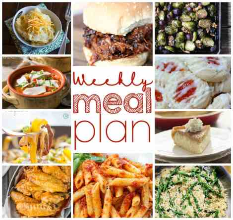 Weekly Meal Plan Week 17 - 10 great bloggers bringing you a full week of recipes including dinner, sides dishes, drinks and desserts!