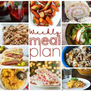 Weekly Meal Plan Week 19 - 10 great bloggers bringing you a full week of recipes including dinner, sides dishes, drinks, and desserts!