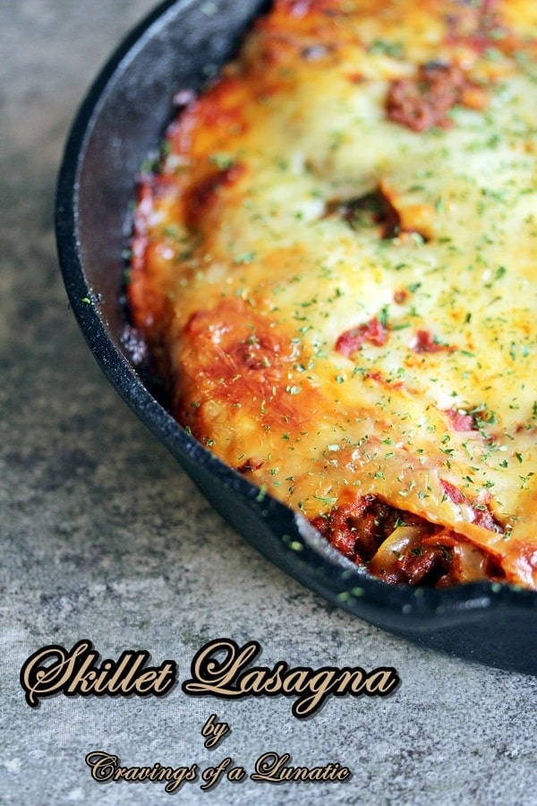 Skillet Lasagna {Cravings of a Lunatic}
