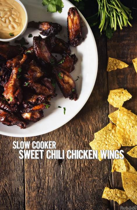 Slow Cooker Sweet Chili Chicken Wings {Girl Carnivore}