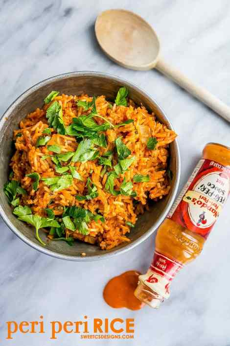 One Pot Spicy Nandos Rice {Sweet C's Designs}