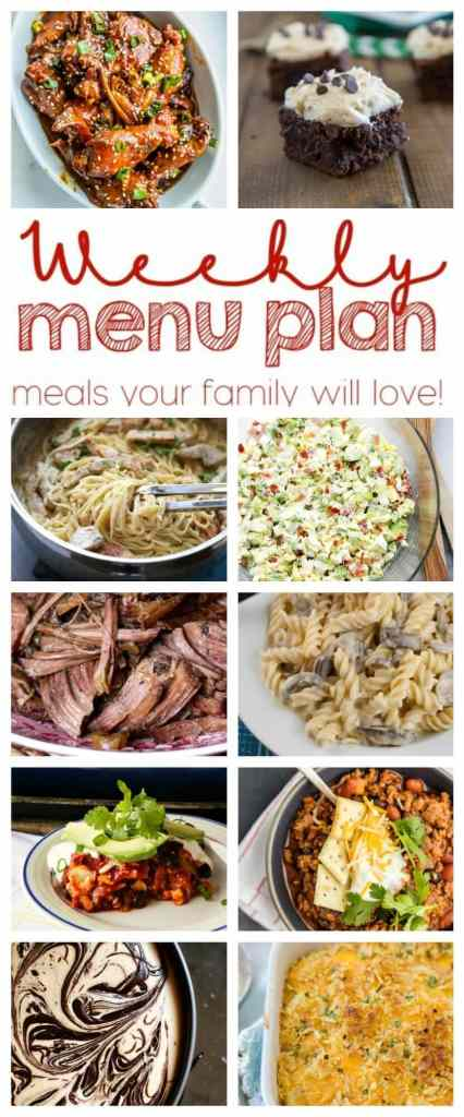Weekly Meal Plan Week 34 - 10 great bloggers bringing you a full week of recipes including dinner, sides dishes, and desserts!