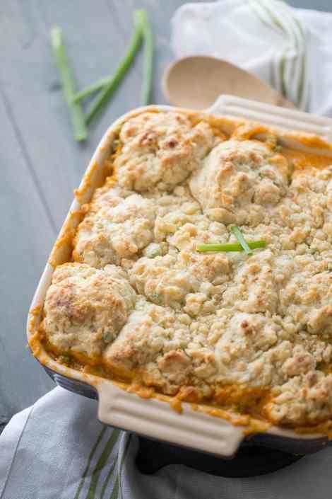 Buffalo Chicken Cobbler {Lemons for Lulu}