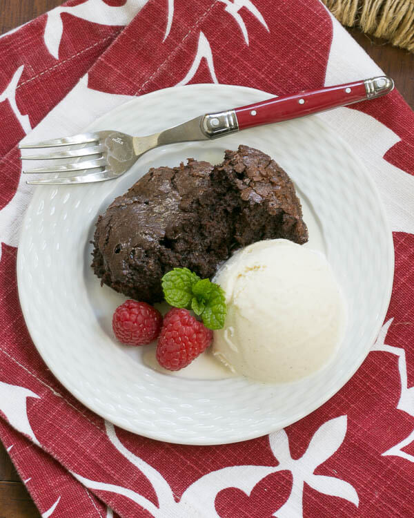 Slow Cooker Brownie Dessert {That Skinny Chick Can Bake}