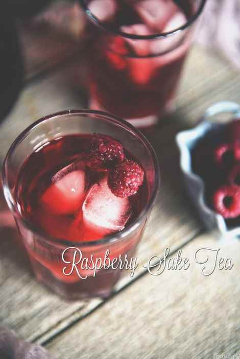 Raspberry Sake Tea Cocktail {Pass the Sushi}