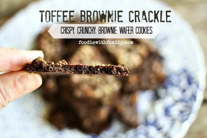 Toffee Brownie Crackle {Foodie with Family}