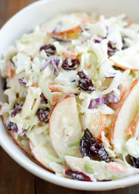 Cranberry Apple Coleslaw {Barefeet in the Kitchen}