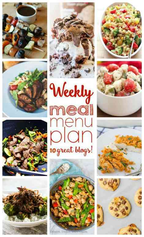 Weekly Meal Plan Week 43 - 10 great bloggers bringing you a full week of recipes including dinner, sides dishes, and desserts!