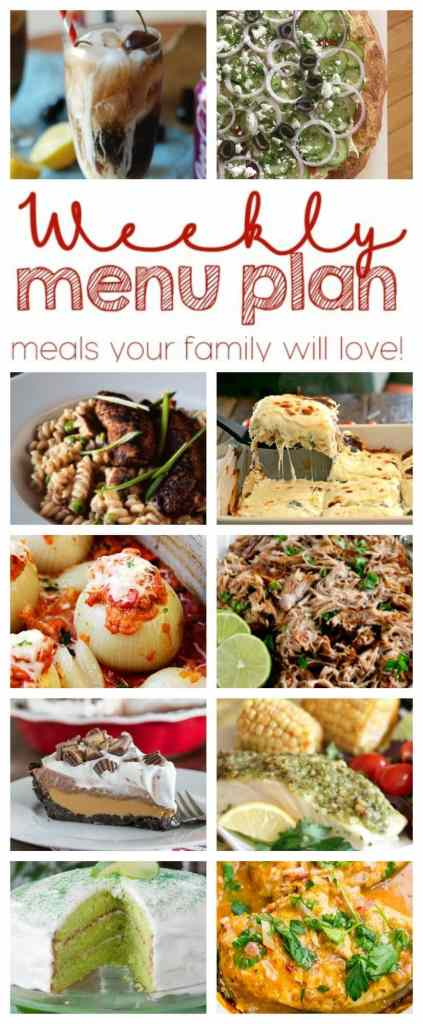 Weekly Meal Plan Week 41 - 10 great bloggers bringing you a full week of recipes including dinner, sides dishes, and desserts!