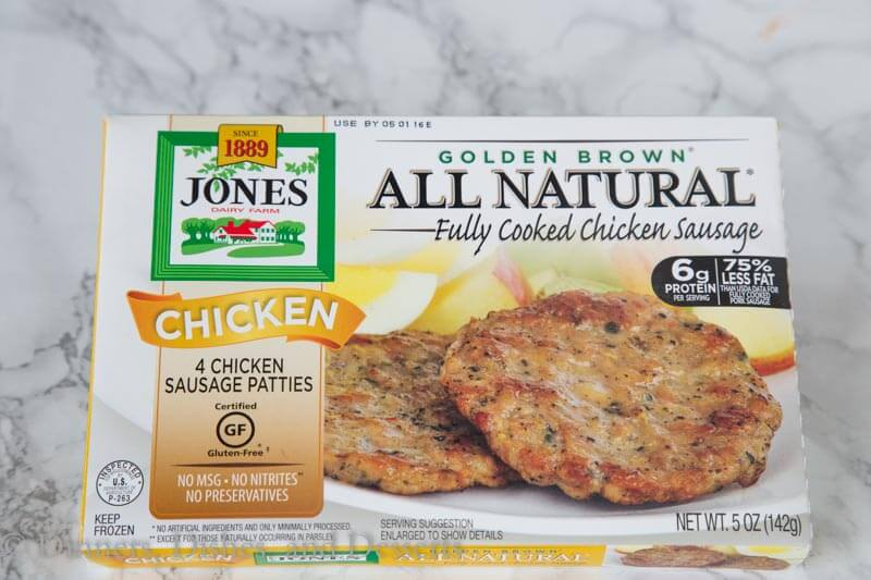 jones dairy farm  all natural fully cooked chicken sausage
