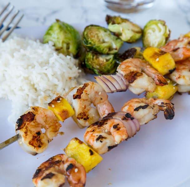 Grilled Teriyaki Shrimp Kebabs