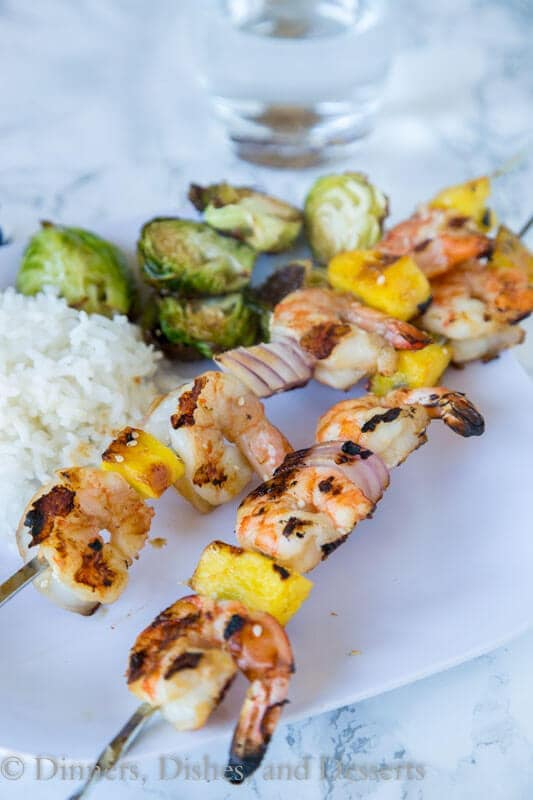 Shrimp and pineapple make a great combination on these Grilled Teriyaki Shrimp Kebabs. Such an easy recipe and great for summer grilling!
