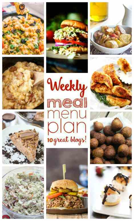 Weekly Meal Plan Week 45 - 10 great bloggers bringing you a full week of recipes including dinner, sides dishes, and desserts!