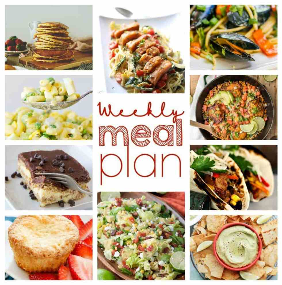Weekly Meal Plan Week 46 - 10 great bloggers bringing you a full week of recipes including dinner, sides dishes, and desserts!