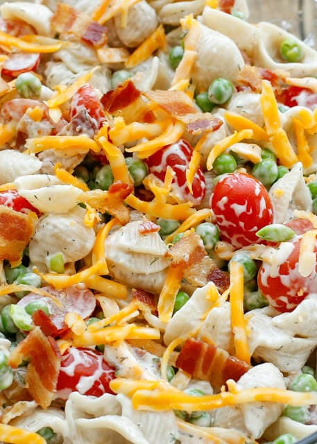 Bacon Ranch Pasta Salad {Barefeet in the Kitchen}