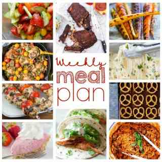 Weekly Meal Plan Week 48 - 10 great bloggers bringing you a full week of recipes including dinner, sides dishes, and desserts!
