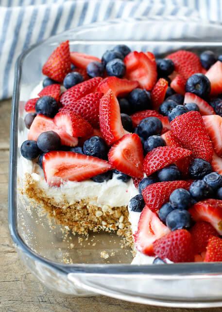 No Bake Berry Pretzel Dessert {Wishes & Dishes}