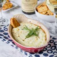 Garlic Herb Baked Goat Cheese Dip