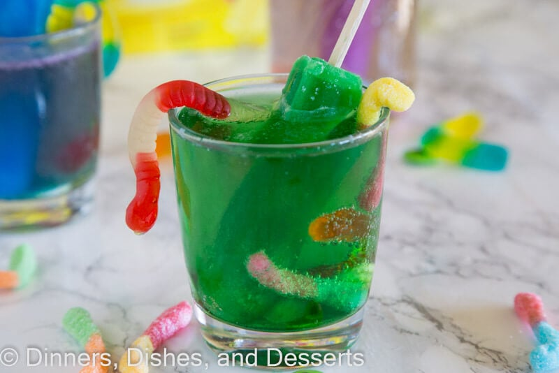 Monster Juice - a kid friendly drink just in time for Halloween. Use Popsicles to make it fun and festive!