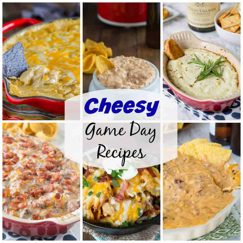 20 Cheesy Game Day Recipes - a round up of 20 game days recipes that are gooey, cheesy, and perfect for getting together with friends and watching the game.
