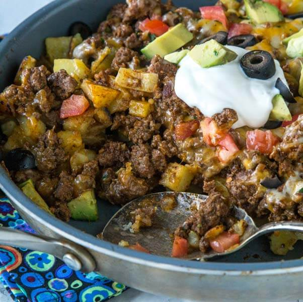 Mexican Skillet Potatoes