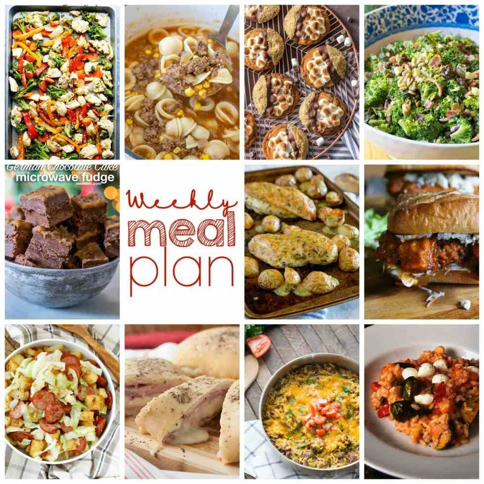 Weekly Meal Plan Week 77 – 11 great bloggers bringing you a full week of recipes including dinner, sides dishes, and desserts!